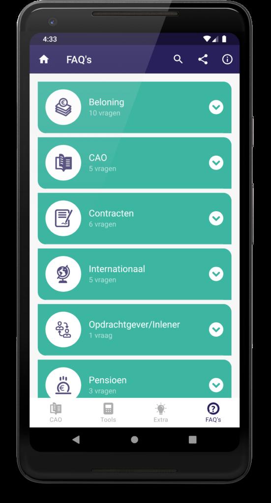 De nieuwe CAO-app