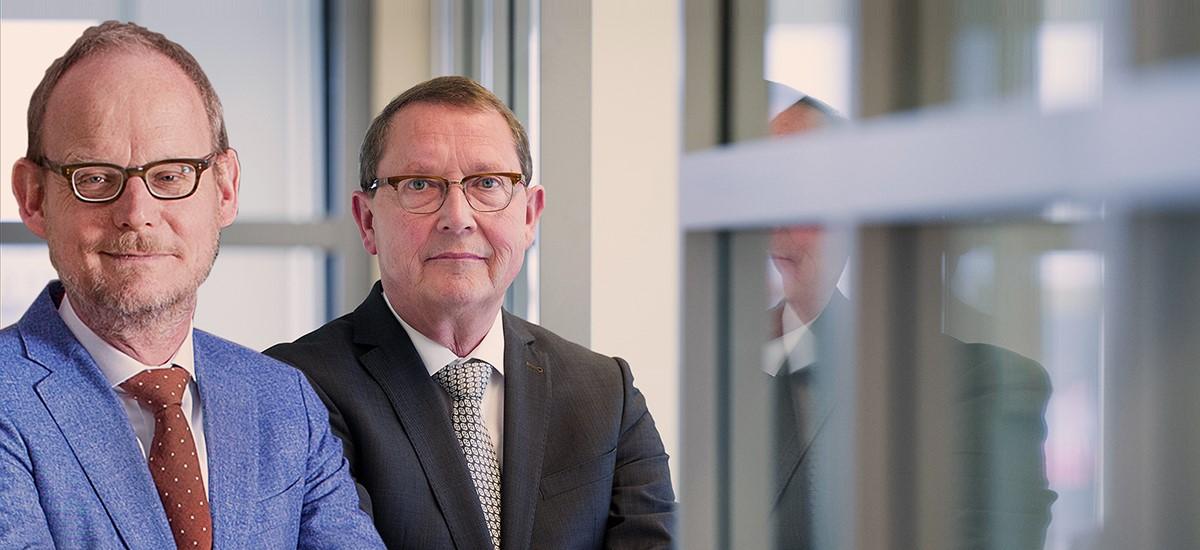 ABU-directeur Jurrien Koops en voorzitter Sieto de Leeuw