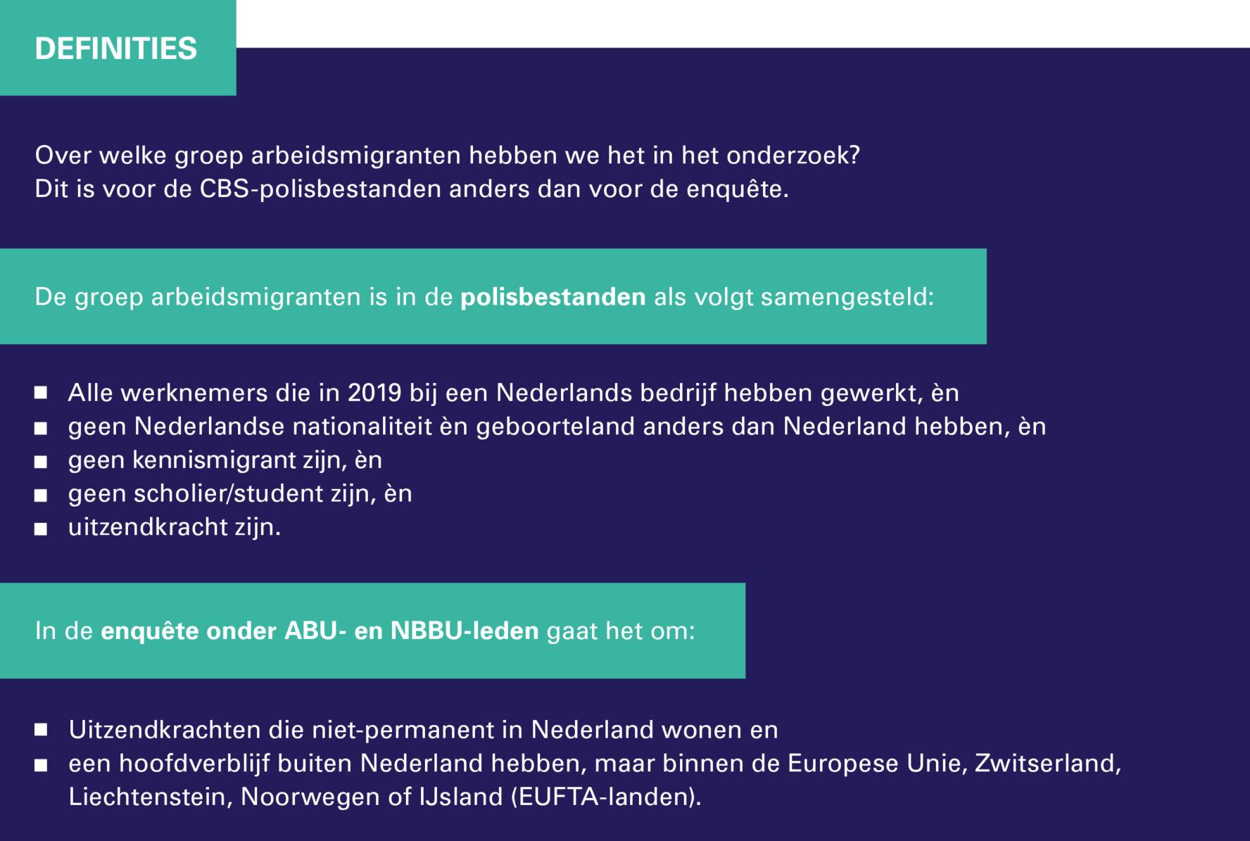 Factsheet arbeidsmigranten - Definitie van de groep arbeidsmigranten